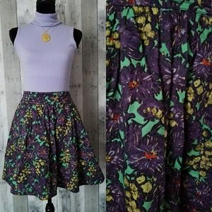 J. Crew cotton floral flared skirt size 12