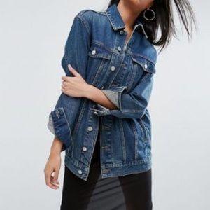 Jackets & Blazers - Oversized Denim Military Jacket