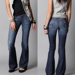 C Of H Ingrid #002 Stretch Low Waist Flare Jeans