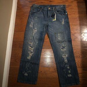 BCBG distresses Gina Boyfriend Jeans Sz 32