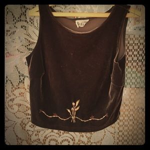Women's Embroidered Box Top