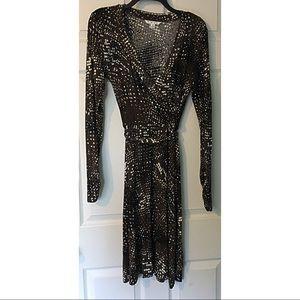 CAbi Wrap Look Dress Dappled Dot Medium 658