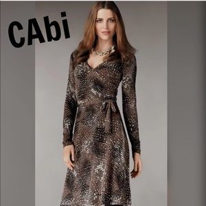 CAbi Wrap Look Dress Dappled Dot Medium 658