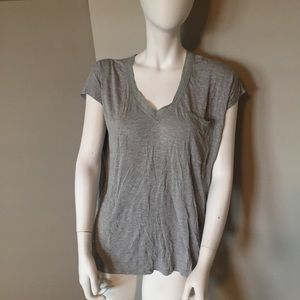Windsor gray lace v neck top size small