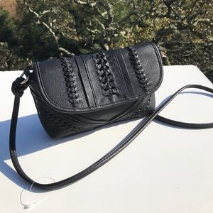 Urban Expressions Black Braided Vegan Small Bag
