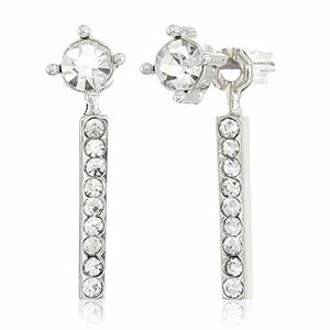 Rebecca Minkoff Pave Front & Back Earrings