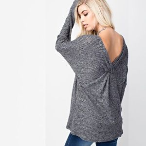 NEW Dolman Long Sleeve Knot Sweater