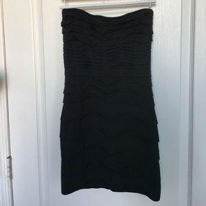 Strapless black stretch dress