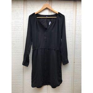 NWT Gap Black Chiffon Cinch Dress