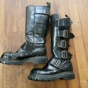 Gripfast Black Combat Boots UK Imported Buckle Sz5