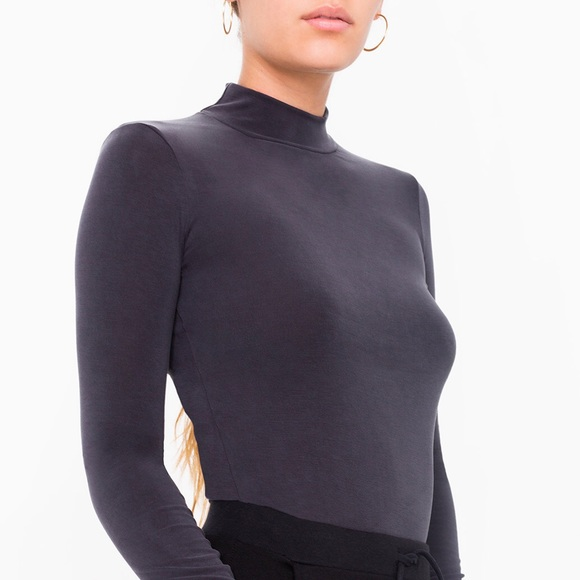 3c91a39467f American Apparel - Brushed Jersey Turtleneck Top