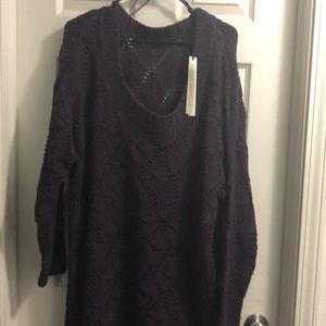"❤️💋 ""SuperSale""NWT Plus size grape tunic Sweater"