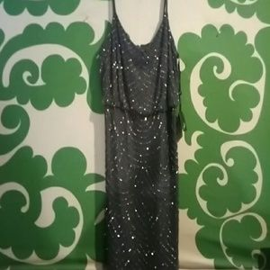 Sexy Adrianna Papell sequined dress
