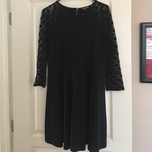 Express Dresses & Skirts - Skater dress with fun sleeves