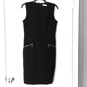 Calvin Klein LBD Dress Black Sleeveless Sheath