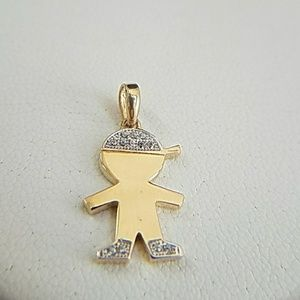 Jewelry - 14k Yellow Gold Baby Boy Charm Pendant