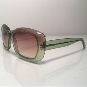 Authentic 1970s Mod Valentino Green and Pink Ombre