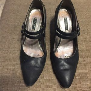 Ecco business heels shoes size 7 black