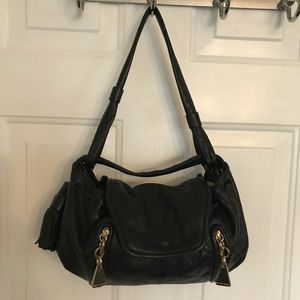 See by Chloe Black Gold Leather Satchel Bag