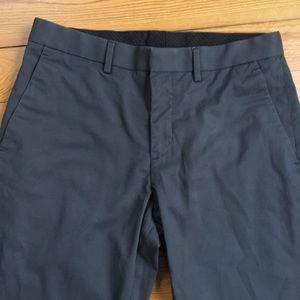 Men's EXPRESS dark gray chinos pants. 30x32
