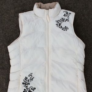 Disney Puffer Quilted Vest, BELIEVE, Tattoo Print
