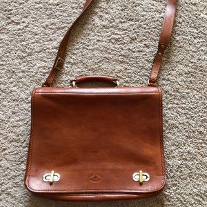 Genuine Brown Leather briefcase