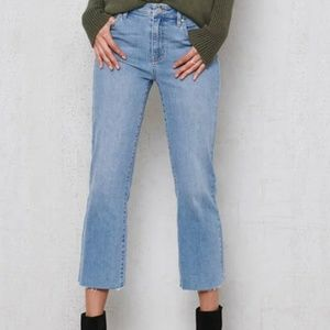 NWT PacSun Stormy Blue High Rise Crop Kick Jeans