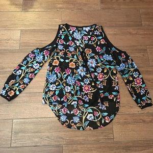 Nicole cold shoulder floral top XS