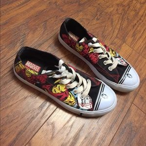 Marvel Comics girls Ironman sneakers size 2