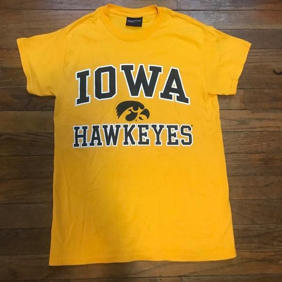 64 off tops university of iowa hawkeyes yellow t shirt for University of iowa shirts