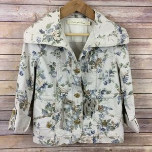 Anthropologie Daughters Liberation Floral Jacket
