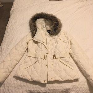 NWOT White puffy coat!