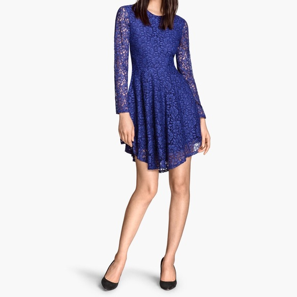 H&M Dresses & Skirts - H&M Blue lace swing dress