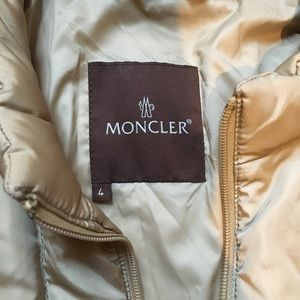 Moncler Jackets & Coats - MONCLER - gold quilted puff coat