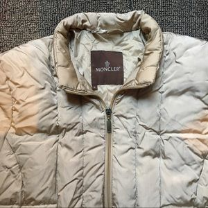 MONCLER - gold quilted puff coat