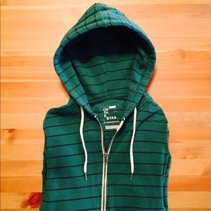 On the Byas Green Striped Hoodie