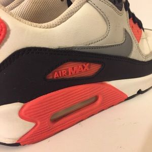 2012 Nike Air Max 90 OG Infrared GS 6.5y Womens 8