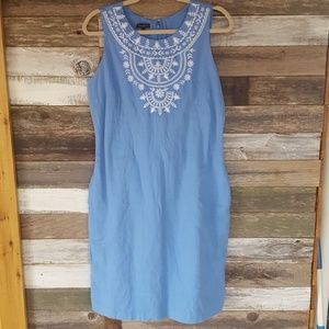 Talbots embroidered dress
