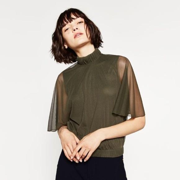 Zara Tops - Zara Forest Green open back top
