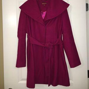 Magenta pea coat
