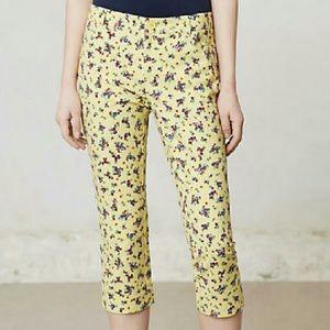 Cartonnier Sz 2 Yellow Floral Charlie Crops Pants