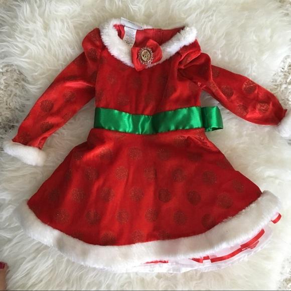 Minnie Mouse Christmas Dress.Disney Toddler Girl Minnie Mouse Christmas Dress