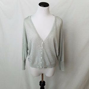 Free People sparkly silver cardigan