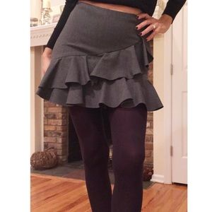 RALPH LAUREN - Grey Ruffle Skirt