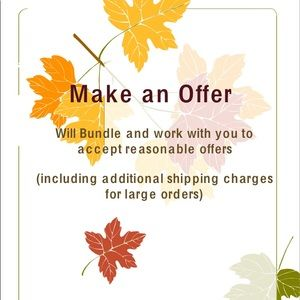 Make an Offer-Bundle for Discount-we can negotiate