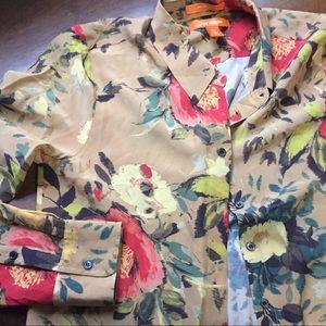 Joe Fresh 100% Silk Button Up