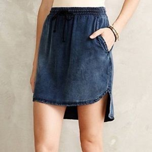 NWOT Anthropologie Cloth & Stone Chambray skirt