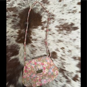 Handbags - Small Textured Floral Print Purse Crossbody