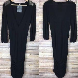 Young Fabulous & Broke Black Embellished Dress