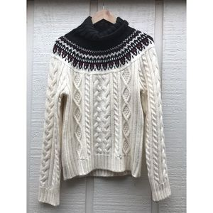 St Johns Bay White Cowl Neck Christmas Sweater-L